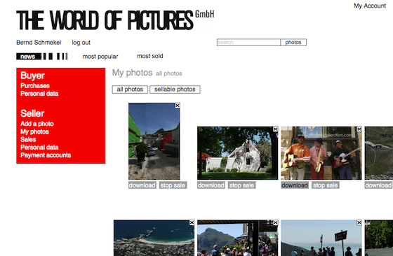 Bild 1 Neue Features auf der Webseite